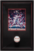 Autographs:Baseballs, Fred Lynn Signed Baseball & Photograph Display....