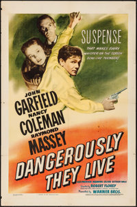 "Dangerously They Live (Warner Brothers, 1942). One Sheet (27"" X 41""). War"