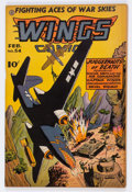 Golden Age (1938-1955):War, Wings Comics #54 (Fiction House, 1945) Condition: FN+....