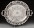 Silver Holloware, British:Holloware, A Mappin & Webb Silver Tray with Classical Motifs, Sheffield,1937. Marks: (lion passant), (crown), u, M&W.14-1/2 i...