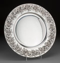 Silver Holloware, Continental:Holloware, An Italian Silver Platter, late 20th century. Marks: 925,STERLING BY GRAND . 14-3/4 inches diameter (37.5 cm).31.6...