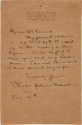 Autographs:Artists, Rhoda Holmes Nicholls Autograph Letter Signed to Maxfield Parrish....