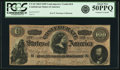 Confederate Notes:1864 Issues, Confederate States of America - CT65 $100 1864 CT65/491. PCGS About New 50PPQ.. ...