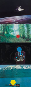 Prints & Multiples, John Baldessari (b. 1931). French Horn Player (with Three Contexts One Uncoded), 1994. Lithograph and screenprint in col...