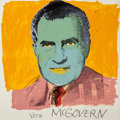 Fine Art - Work on Paper:Print, Andy Warhol (1928-1987). Vote McGovern, 1972. Screenprint incolors. 42 x 42 inches (106.7 x 106.7 cm) (sheet). Ed. 77/2...