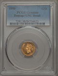 Gold Dollars, 1880 G$1 -- Damage -- PCGS Genuine. UNC Details. NGC Census: (3/215). PCGS Population: (1/403). CDN: $500 Whsle. Bid for pr...