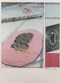 Fine Art - Work on Paper:Print, Christo (b. 1935). Surrounded Islands, Project for Biscayne Bay,Greater Miami, Florida, 1985. Offset lithograph in colo...