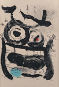 Fine Art - Work on Paper:Print, Joan Miró (1893-1983). The Empress, 1964. Lithograph incolors on Arches paper. 35-5/8 x 24 inches (90.5 x 61.0 cm) (she...