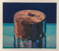 Prints & Multiples, Wayne Thiebaud (b. 1920). Dark Cake, 1983. Woodcut in colors on Tosa Koso, with full margins. 15-3/4 x 17-1/2 inches (40...
