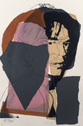 Andy Warhol (1928-1987) Mick Jagger, 1975 Screenprint in colors on Arches Aquarelle paper 43-1/2