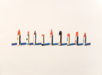 Wayne Thiebaud (b. 1920) Lipstick Row, from Seven Still Lifes and a Rabbit, 1970 Screenpr
