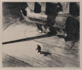Fine Art - Work on Paper, Edward Hopper (American, 1882-1967). Night Shadows, 1921.Etching. 6-7/8 x 8-1/8 inches (17.5 x 20.6 cm) (image). Ed. ap...