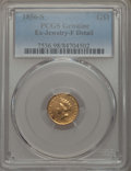 Gold Dollars, 1856-S G$1 Type Two -- Ex Jewelry -- PCGS Genuine. Fine Details. NGC Census: (0/216). PCGS Population: (0/188). CDN: $360 W...