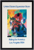 Olympic Collectibles:Autographs, 1984 United States Olympics Equestrian Team Leroy Neiman Print....