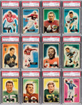 Football Cards:Sets, 1955 Bowman Football Complete Set (160) - With 102 Autographed Cards! ...