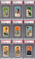 Baseball Cards:Lots, 1909-11 T206 White Borders Collection (62) With HoFers & ScarceBrands. ...