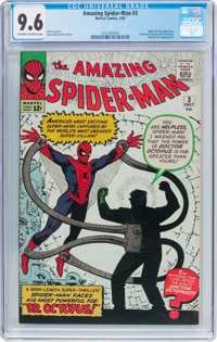 The Amazing Spider-Man #3 (Marvel, 1963) CGC NM+ 9.6 Off-white to white pages