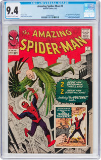 The Amazing Spider-Man #2 (Marvel, 1963) CGC NM 9.4 Off-white to white pages