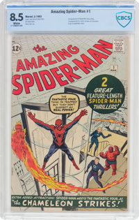 The Amazing Spider-Man #1 (Marvel, 1963) CBCS VF+ 8.5 White pages
