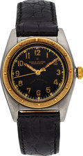 Timepieces:Wristwatch, Rolex Ref. 5015 Steel & Yellow Gold Bubble Back, circa 1940. ...