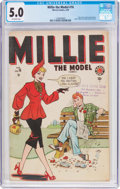 Golden Age (1938-1955):Romance, Millie the Model #16 (Marvel, 1949) CGC VG/FN 5.0 Off-whitepages....