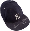 Baseball Collectibles:Uniforms, Mickey Mantle Signed New York Yankees Cap....