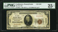 National Bank Notes:Pennsylvania, Confluence, PA - $20 1929 Ty. 1 The First NB Ch. # 5307. ...