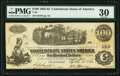Confederate Notes:1862 Issues, T40 $100 1862 PF-1 Cr. 298,. ...