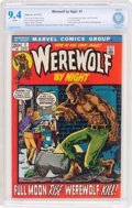 Bronze Age (1970-1979):Horror, Werewolf by Night #1 (Marvel, 1972) CBCS NM 9.4 White pages....