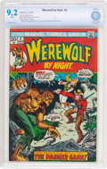 Bronze Age (1970-1979):Horror, Werewolf by Night #4 (Marvel, 1973) CBCS NM- 9.2 White pages....