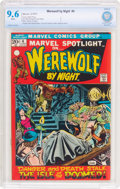 Bronze Age (1970-1979):Horror, Werewolf by Night #4 (Marvel, 1973) CBCS NM+ 9.6 White pages....