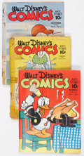 Golden Age (1938-1955):Cartoon Character, Walt Disney's Comics and Stories Group of 11 (Dell, 1941-44)Condition: Average FR.... (Total: 11 Comic Books)