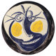 Pablo Picasso (1881-1973) Visage, 1960 Glazed white earthenware plate, painted in colors 17 inch diameter (43.2 cm)