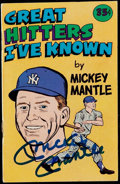 Autographs:Others, Mickey Mantle Signed Booklet and Roger Maris Signed Celebrity Golf Program....