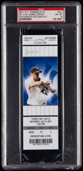 Baseball Collectibles:Tickets, 2011 Derek Jeter 3,000th Hit Full Ticket, PSA NM-MT 8. ...