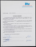"Autographs:Letters, 2002 Chris Carpenter Signed Baseball Card ""Extension Agreement"" Contract. ..."