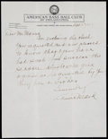 Autographs:Letters, 1929 Connie Mack Handwritten Signed Letter. ...