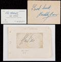 Boxing Collectibles:Autographs, Max Baer, Buddy Baer and Abe Attell Signed Cut Signatures Lot of 3....