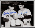 Autographs:Photos, Mickey Mantle And Frank Crosetti Signed Photograph....