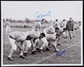 Football Collectibles:Photos, Paul Hornung and Jim Ringo Multi-Signed Photograph. ...