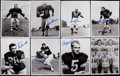Football Collectibles:Photos, 1950's Green Bay Packers Greats Signed Photographs Lot of 14....