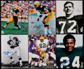"""Football Collectibles:Photos, 1966 Green Bay Packers Greats """"Super Bowl I"""" Signed Photographs Lot of 30...."""