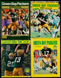 Football Collectibles:Publications, 1969-1987 Green Bay Packers Signed Yearbooks Lot of 8....