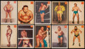 Olympic Cards:General, 1954-55 Parkhurst Wrestling Complete Set (75). ...