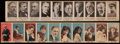 Non-Sport Cards:Sets, 1919 W-Unc Movie Stars & W589 Presidents Uncut Strips Pair (2)....
