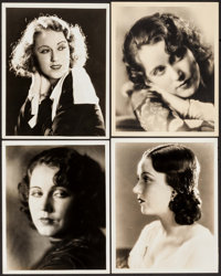 "Fay Wray (Paramount, 1933). Portrait Photos (4) (8"" X 10""). Miscellaneous. ... (Total: 4 Items)"