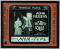 "Movie Posters:Miscellaneous, Restless Souls (Triangle, 1919). Glass Slide (3.25"" X 4""). Drama.. ..."