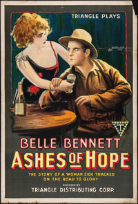 "Ashes of Hope (Triangle, 1917). One Sheet (27.5"" X 41""). Western"