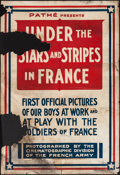 "Movie Posters:Short Subject, Under the Stars and Stripes in France (Pathé, 1917). Newsreel OneSheet (28"" X 41""). Short Subject.. ..."