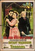 "Movie Posters:Drama, The Man Who Was Afraid (Essanay, 1917). One Sheet (28"" X 42"").Drama.. ..."